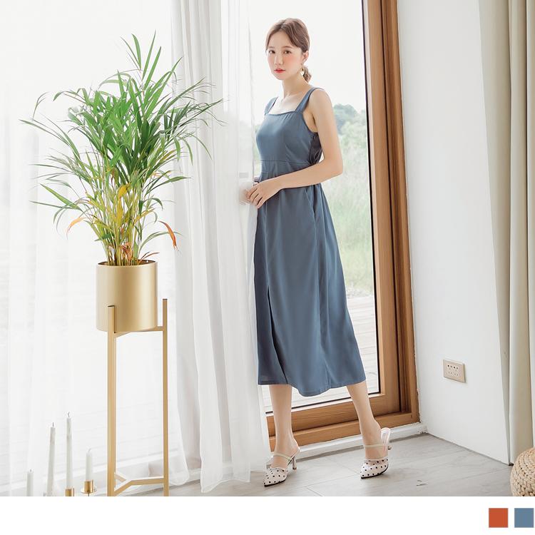 腰身剪裁拉出比例纖長感, 裙襬前開衩設計方便活動更添加性感魅力, 不易皺涼感材質, 一件搞定優雅女神風~ ************** 小提醒: 胸圍非彈性範圍,為平放測量-約略適穿的範圍尺寸 尺寸表