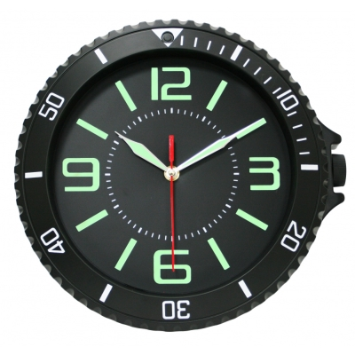 KINYO 12吋夜光靜音手錶造型創意掛鐘(CL150)