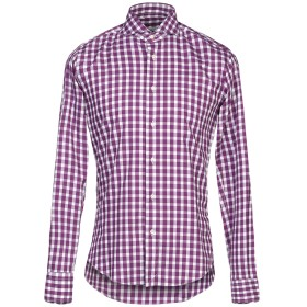 《期間限定セール開催中!》BRIAN DALES メンズ シャツ パープル 39 コットン 100%