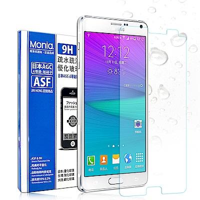 MONIA SAMSUNG Galaxy NOTE 4 日本頂級疏水疏油9H鋼化玻璃膜