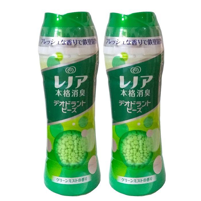 P&G洗衣芳香顆粒520ml-綠色(綠草清香)-二入組