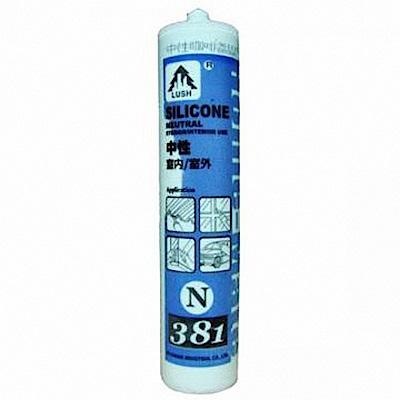 N381 中性  300ml 矽利康防水膠/玻璃膠/填縫劑5支 -米白