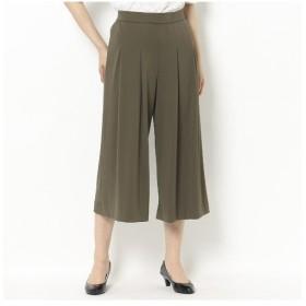 LOBJIE / ロブジェ スムース素材のタック入りスカート風パンツ