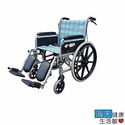 海夫健康生活館 杏華 凱源機械式輪椅(未滅菌) 可折背 鋁製 骨科腳架 (FK-BB3)