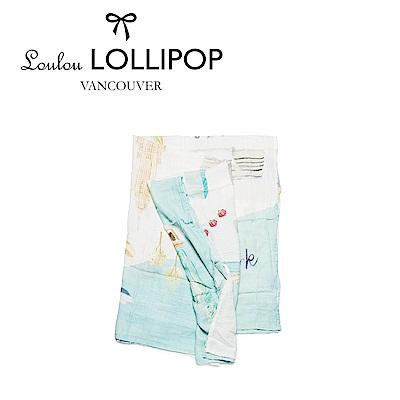 Loulou lollipop  竹纖維透氣包巾120x120cm 美國紐約