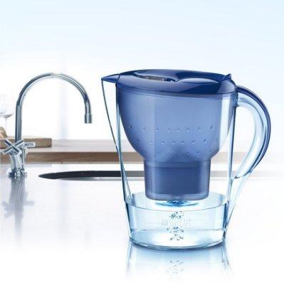 燕子柑仔店*現貨喔!德國BRITA Marella XL 馬利拉3.5L濾水壺(1濾芯) 藍色只賣990元。