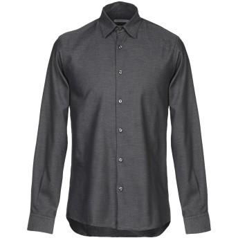 《9/20まで! 限定セール開催中》PRIMO EMPORIO メンズ シャツ 鉛色 S コットン 100%