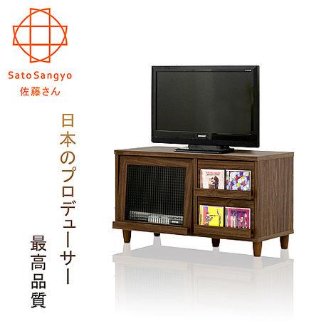 【Sato】NEFLAS時間旅人二抽一門電視收納櫃‧幅90cm