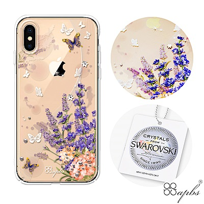apbs iPhone XS / iPhone X 5.8吋施華洛世奇彩鑽手機殼-普羅旺斯