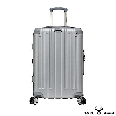 RAIN DEER 克萊爾28吋ABS鑽石紋防刮行李箱-太空銀