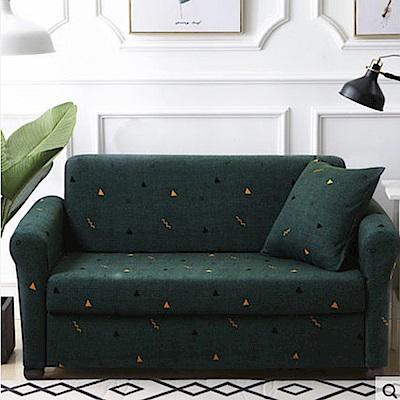 日創優品 綠野迷蹤彈性沙發套-1人座(贈同款抱枕套x1)