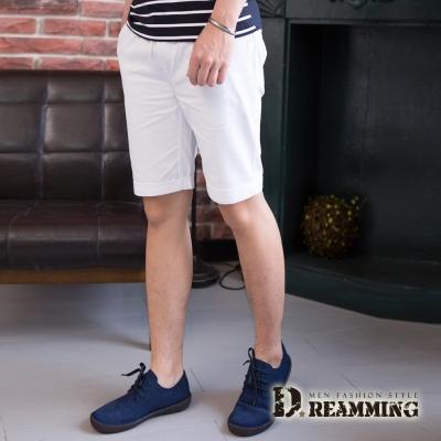 Dreamming 夏日潮感玩色鬆緊抽繩休閒短褲-白/綠/黑/藍
