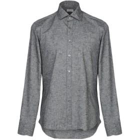 《セール開催中》BAGUTTA メンズ シャツ グレー 40 コットン 100%
