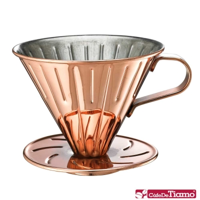 Tiamo 0916 V02不鏽鋼咖啡濾杯組1-4人-附濾紙量匙(HG5034BZ)