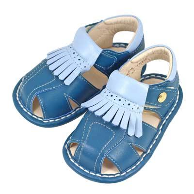 Swan天鵝童鞋-紳士流蘇寶寶涼鞋1515-藍