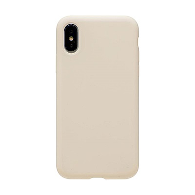 【TOYSELECT】iPhone X/Xs 文藝液態矽膠全包防摔殼:古董白