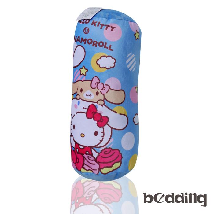 BEDDING-Hello Kitty三麗鷗正版授權圓筒抱枕-藍色凱蒂貓