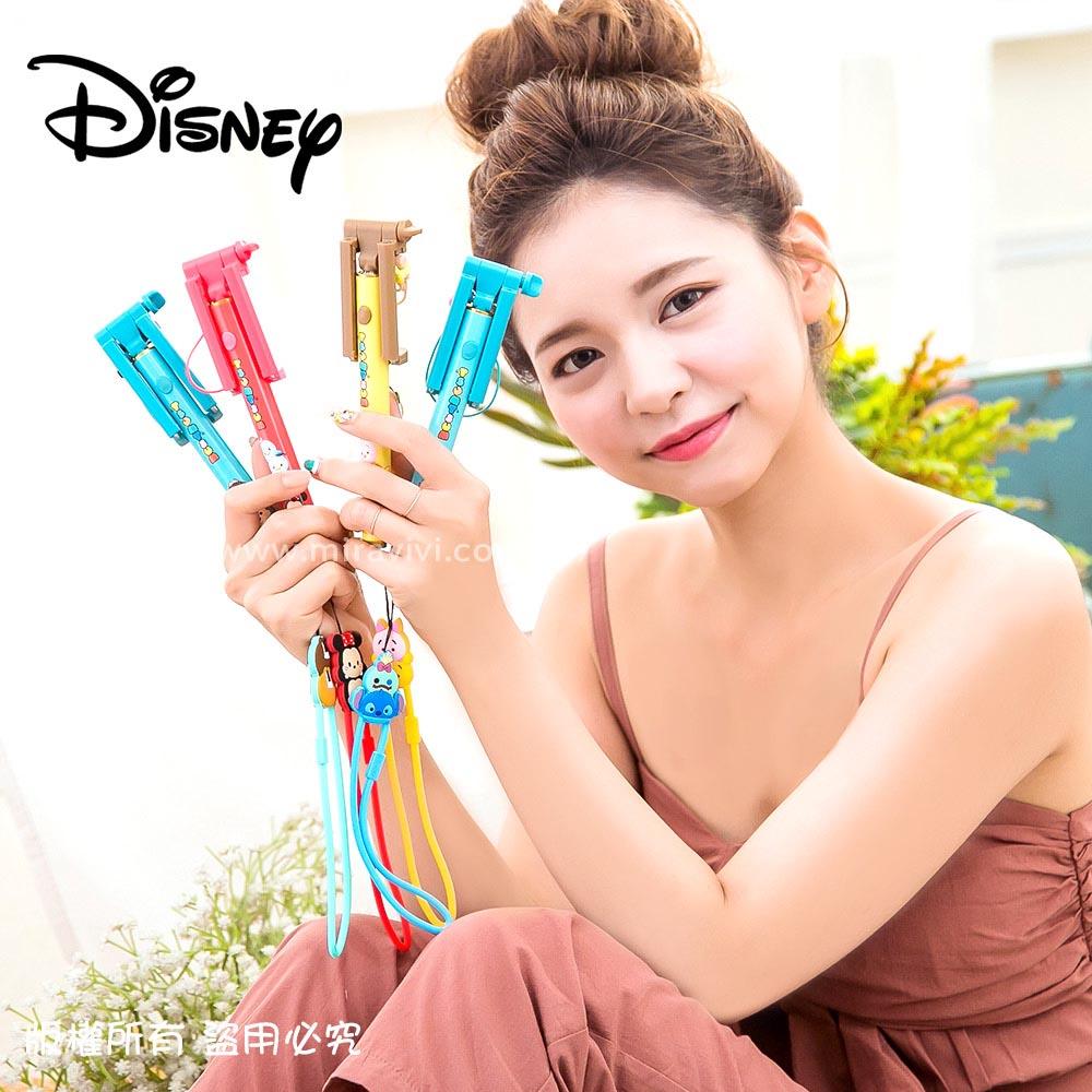 Disney迪士尼TsumTsum Mini輕巧迷你 自拍棒 自拍神器 可伸縮 免藍牙