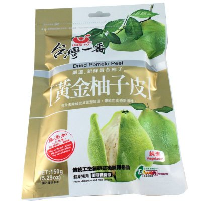 黃金柚子皮 台灣一番 天然無添加 無人工色素 150克 天然柚子果乾蜜餞 零食點心下午茶 【全健健康生活館】