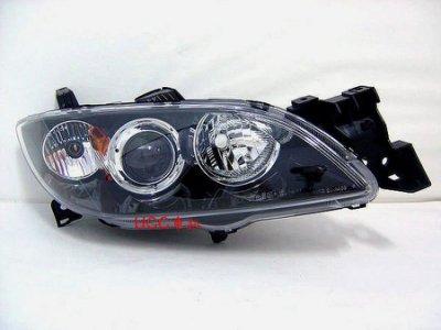 【UCC車趴】MAZDA 馬自達 04 05 06-08 09 馬3 M3 原廠型 黑框大燈 TYC製 一組3800