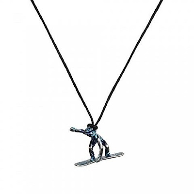 SAC #022 青銅項鍊吊飾 滑雪者(雪板 Snowboarder)