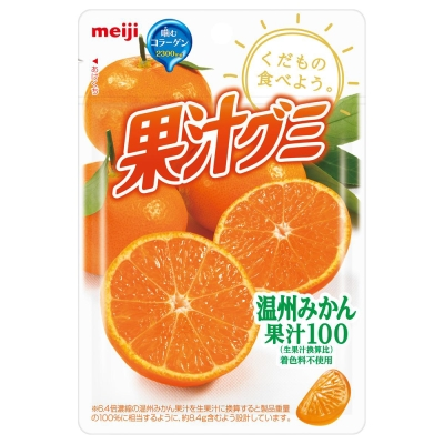 明治 果汁QQ軟糖-溫州蜜柑(57g)