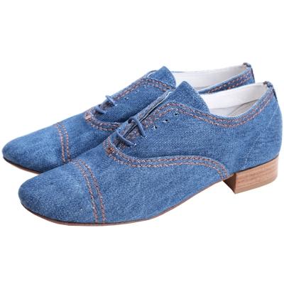 Repetto Francesine Box 丹寧帆布牛津鞋(藍色)