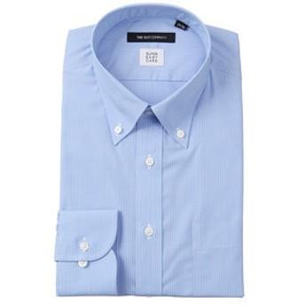 【THE SUIT COMPANY:トップス】【SUPER EASY CARE】ボタンダウンカラードレスシャツ ストライプ〔EC・BASIC〕