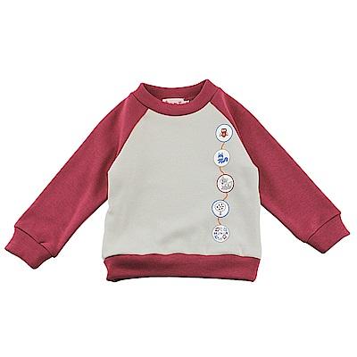 愛的世界 MYBABY 彈性運動風內刷毛長袖上衣/2~3歲