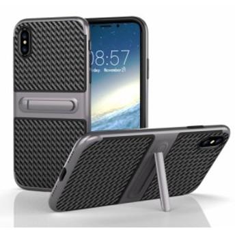半額セール 50%off iPhone X ハードケース グレー 強化ガラス保護フィルム付き スマホケース アイフォン X 背面型スタンド機能