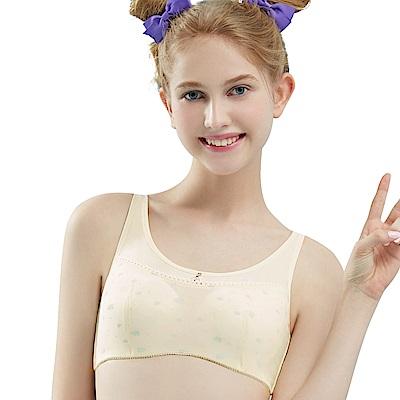 思薇爾 朵朵雲輕甜風系列B-E罩軟鋼圈印花背心型包覆內衣(奶酪黃)