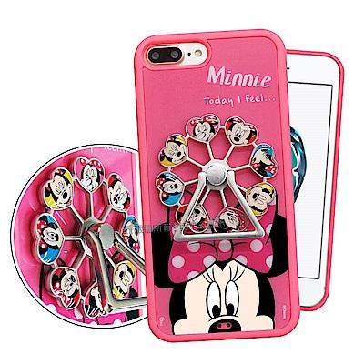 迪士尼授權 iPhone 8 Plus/7 Plus 摩天輪指環扣防滑支架手機殼(米妮)