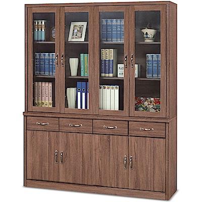 凱曼  埃西亞柚木色5.3尺書櫥/書櫃組