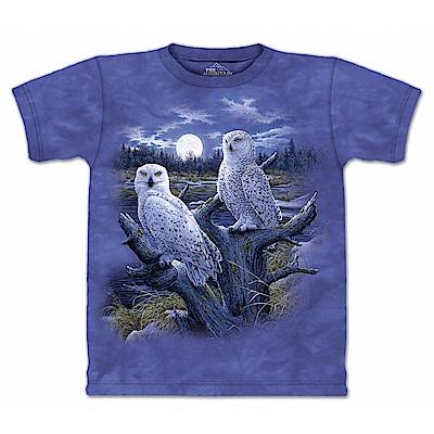 摩達客 美國進口The Mountain 雪之貓鷹 純棉環保短袖T恤