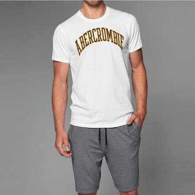 A&F 經典文字短袖T恤-白色 AF Abercrombie