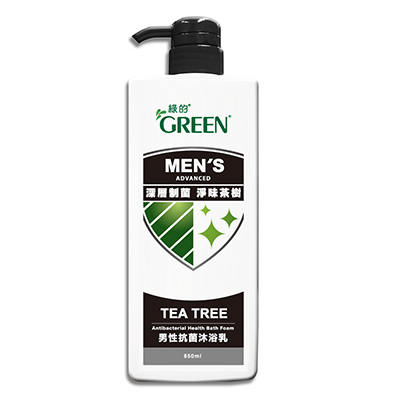 綠的GREEN男性抗菌沐浴乳-深層淨味 制菌茶樹850ml