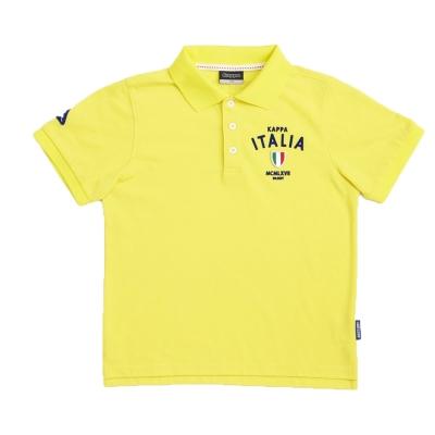 KAPPA義大利小朋友吸濕排汗速乾彩色POLO衫~清黃