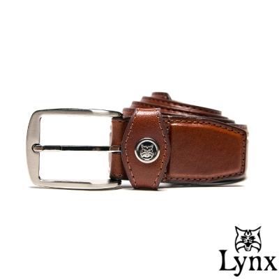 Lynx - 山貓極品經典復古款穿針式真皮皮帶