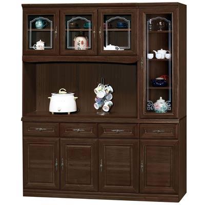 時尚屋義昇胡桃5.3尺碗櫥櫃