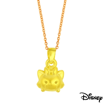 Disney迪士尼金飾 TSUM瑪莉貓黃金墜子 送項鍊