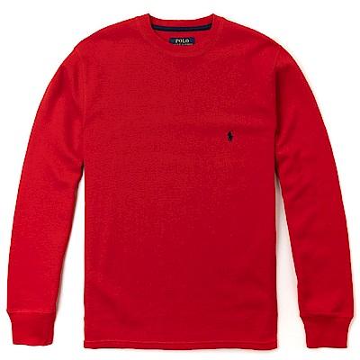 Polo Ralph Lauren 經典刺繡小馬針織棉質毛衣-紅色