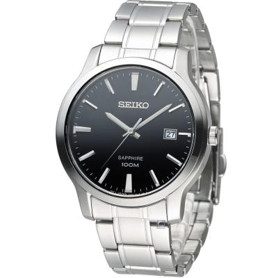 SEIKO 百米防水紳士錶(7N42-0GE0D)黑/41mm