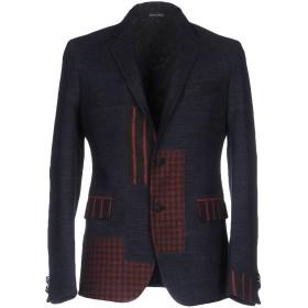 《送料無料》BRIAN DALES メンズ テーラードジャケット ブルー 48 ウール 33% / ポリエステル 30% / レーヨン 16% / ナイロン 13% / 指定外繊維 8%