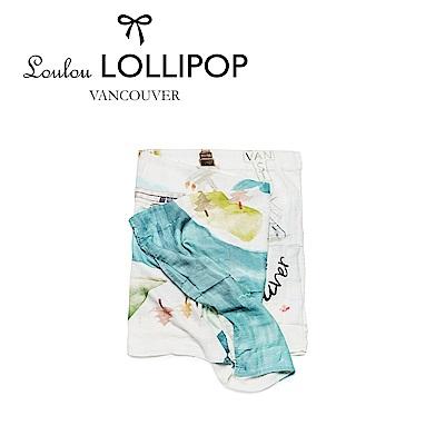 Loulou lollipop  竹纖維透氣包巾120x120cm 加拿大溫哥華