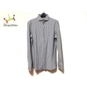 エンポリオアルマーニ EMPORIOARMANI 長袖シャツ サイズ39/15 メンズ 美品 白×黒 ストライプ 新着 20190618