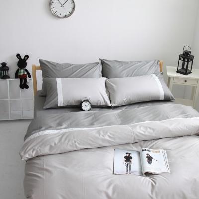 OLIVIA 鐵灰 銀白 銀灰  加大雙人床包被套四件組 素色無印