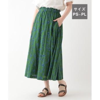(studio CLIP/スタディオクリップ)フラワードットプリントスカート[WEB限定プチサイズ]/ [.st](ドットエスティ)公式