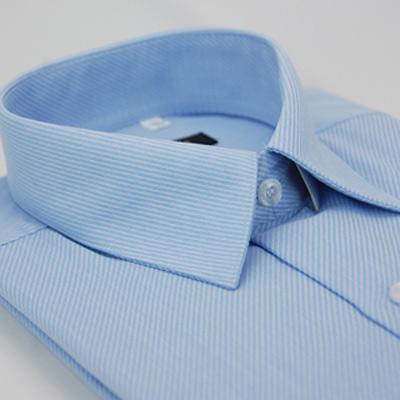 【金安德森】藍色斜紋長袖襯衫