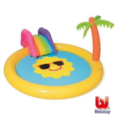 凡太奇 Bestway 熱帶陽光島嶼充氣泳池(噴水池) 53071
