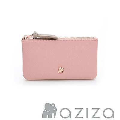 aziza 鑰匙零錢包-粉